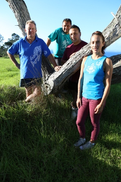 image of AIA Marae DIY presenters, Te Ori Paki, Ria Hall, David Clayton-Greene, Harrry Anneff