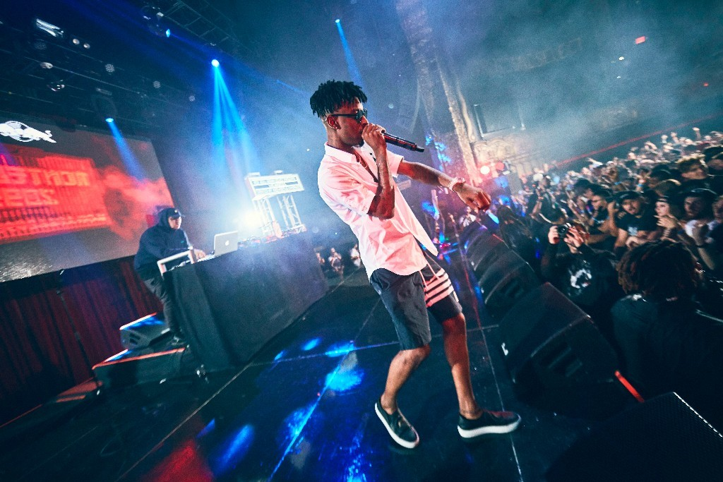 Montell2099 is joined on stage by 21 Savage at Red Bull Sound Select curated by Brownies & Lemonade in LA last week - Photo / Koury Angelo