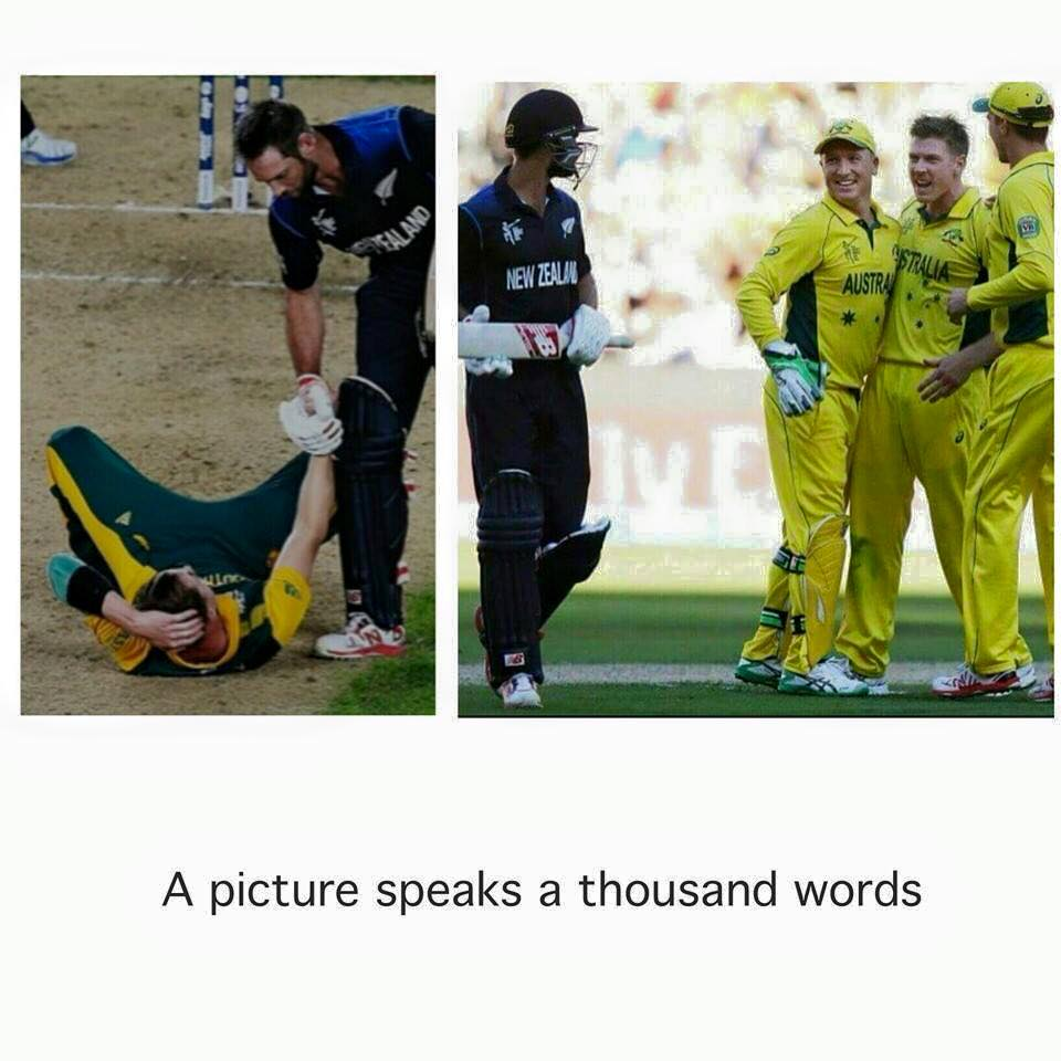 Social media image goes viral about Black Caps sportsmanship