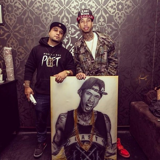Jason Manukau and Tyga