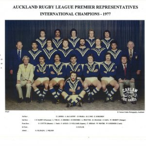 1977 Auckland Rugby League Premier Team - Photo / Carlaw Park Die Hards