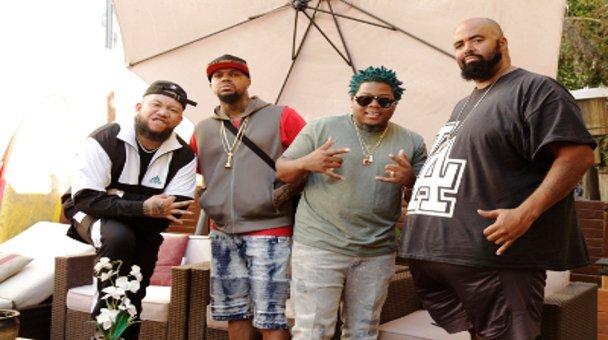 Group shot JC tha Barber, DJ Paul of Three Six Mafia