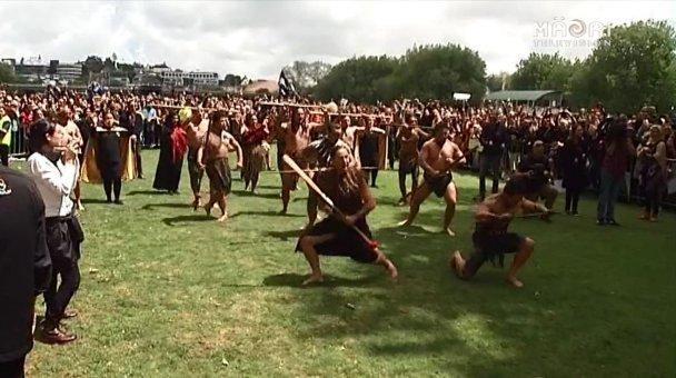 Mana whenua welcome ABs to Victoria Park - Photo / TV3