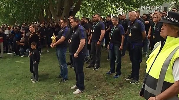 Mana whenua welcome ABs to Victoria Park - Photo / TV3