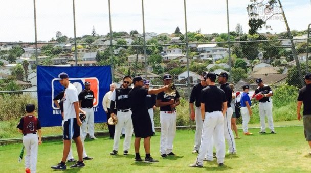 Baseball youth get tips from the pros, Lloyd Elsmore Park, Auckland