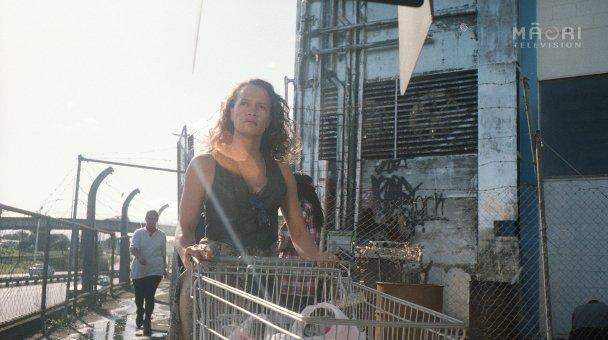 Beth pushing shopping trolley