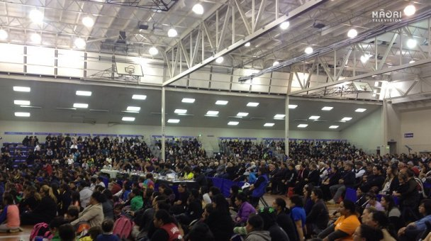 Crowd of supporters - Mataatua Secondary Schools Kapa Haka Regionals