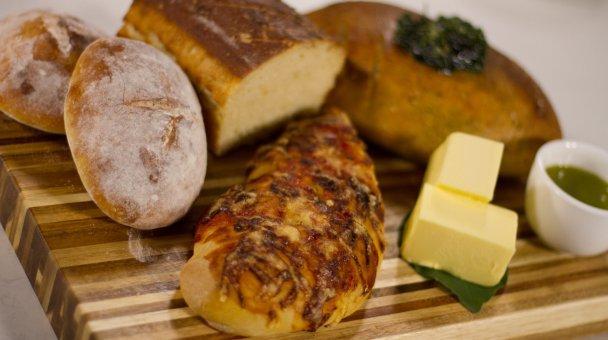 A selection of breads made by Tumanako Tinirau