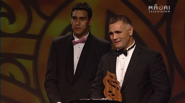 Jason and Tai Wynyard, jointly awarded Albie Pryor Sportsperson of the Year