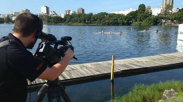 Te Kāea cameraman Gines, filming the W1 Semis