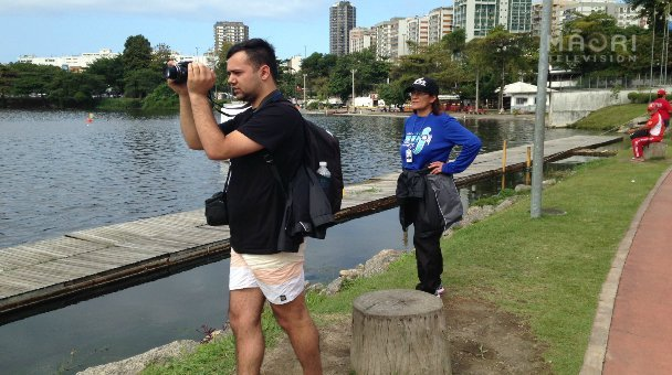 Supporters of a W1 NZ paddler watch on