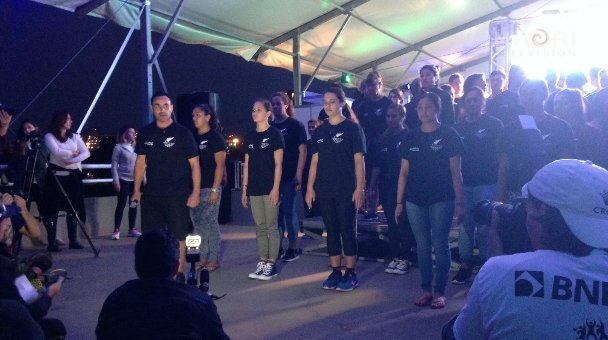 NZ contingent performing a few waiata