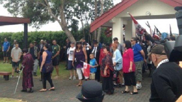 Protesters converge on Te Tii Marae