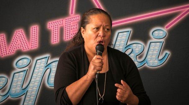 MS woman singing at Whanganui auditions