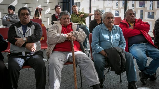 Group of people seated in room at Whanganui auditions