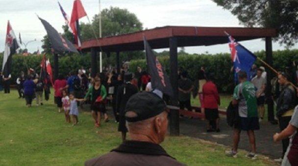 Hīkoi arrives to Te Tii Marae