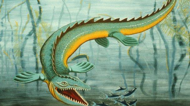 Artists Lloyd Homer and Ron Braizer's interpretation of marine reptile