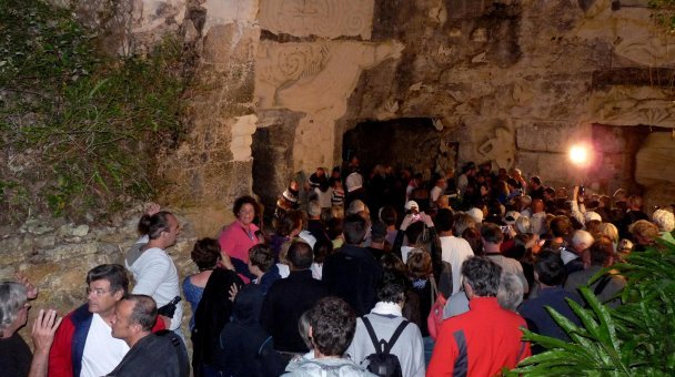 200 of the French public attend the opening at Les Lapidiales