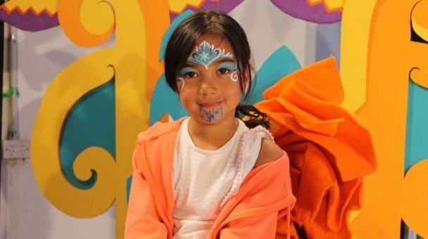 Tamariki on set - Photo / file