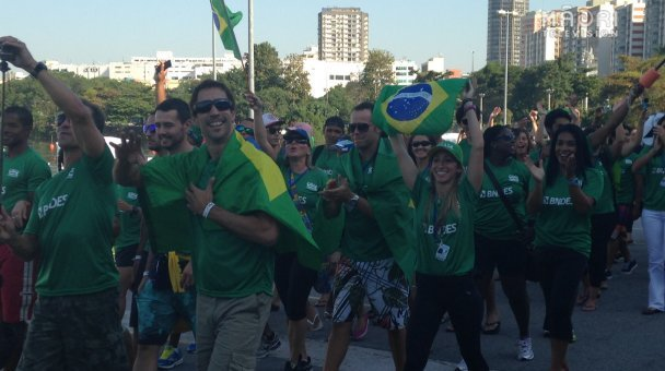 Opening ceremony - home team, Brazil