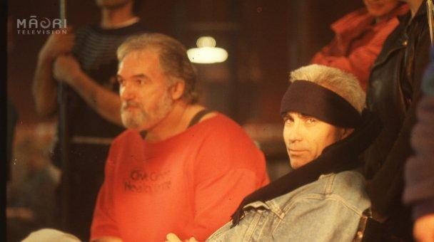 Robert Bruce and Lee observe the Haka scene