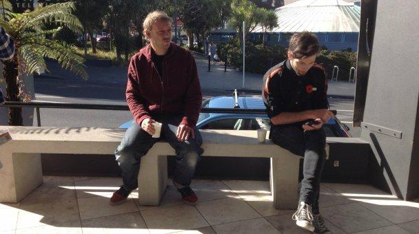 ANZAC Crew on a break