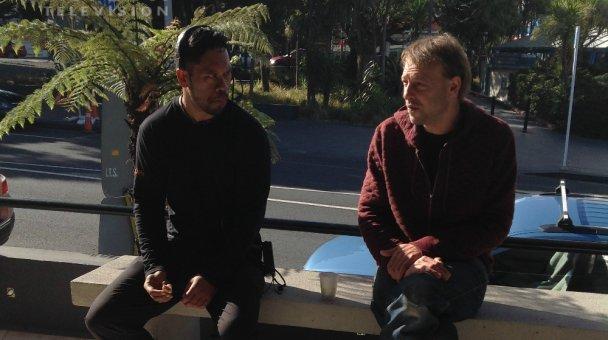 ANZAC Production crew on break