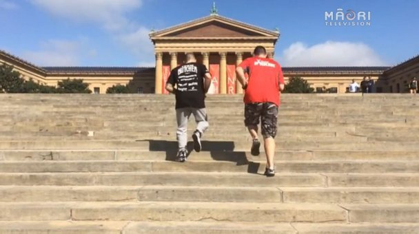 Berridge & Parker at the Rocky Steps, Philadelphia