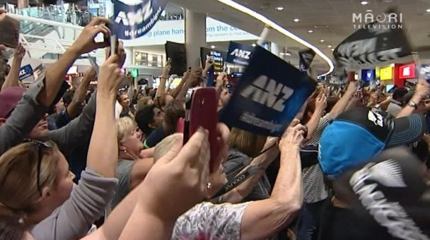 Welcome home Black Caps, Auckland Airport - Photo / file