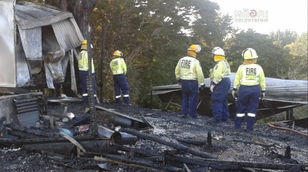 Old Wharekai at Whakapara Marae destroyed by fire