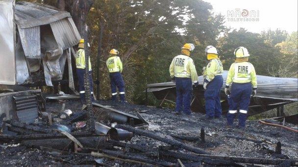 Old Wharekai at Whakapara Marae destroyed by fire