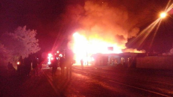 Tautoko FM on fire - Photo / supplied