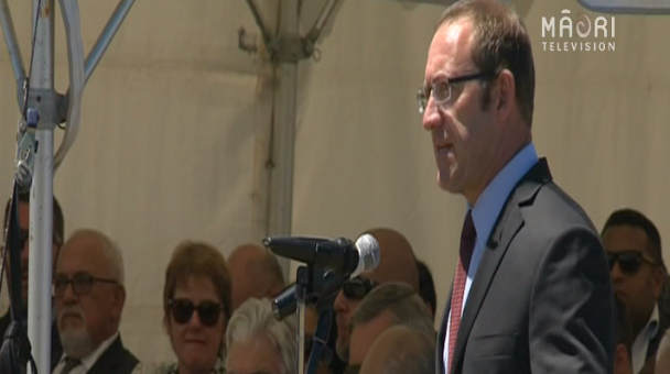 Labour leader Andrew Little at Rātana - Photo / file