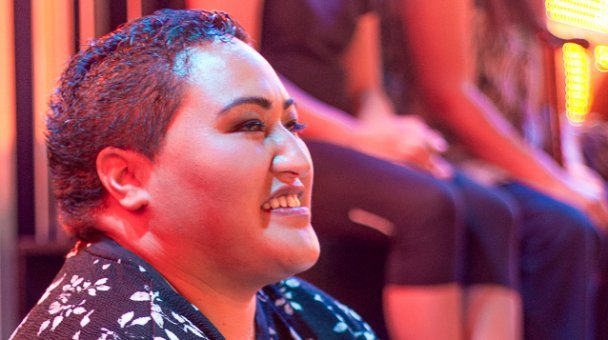 Profile picture of smiling member of audience