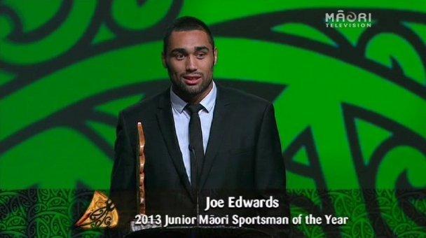 Joe Edwards, 2013 Junior Māori Sportsman of the Year