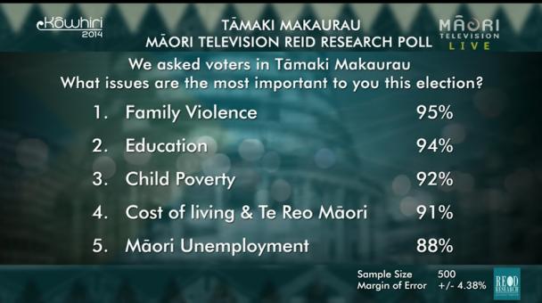 Native Affairs - Kōwhiri 14 Issues Poll Results