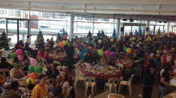 groups enjoying xmas lunch