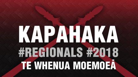 Regionals 2018 - Te Whenua Moemoeā
