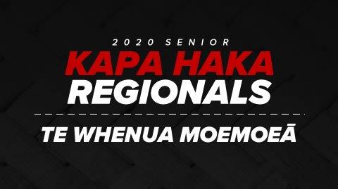 Regionals 2020 - Te Whenua Moemoeā