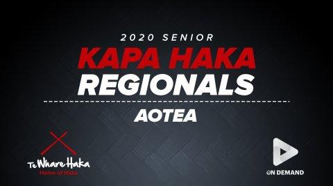 2020 Senior Regionals - Aotea