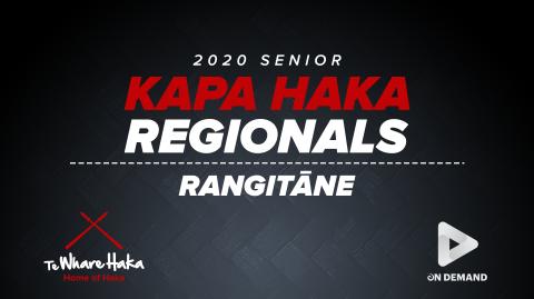 2020 Senior Kapa Haka Regionals - Rangitāne