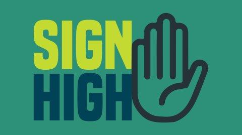 Sign High
