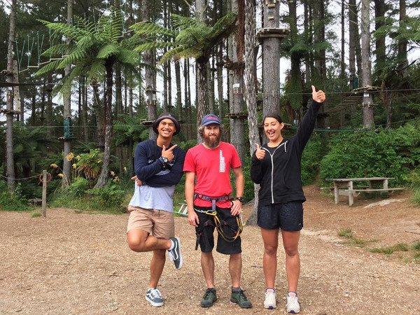 3shot Rereahu, Waioira and Adrenalin Forest instructor