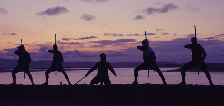 Sunset shot of the Winitana males striking various stances