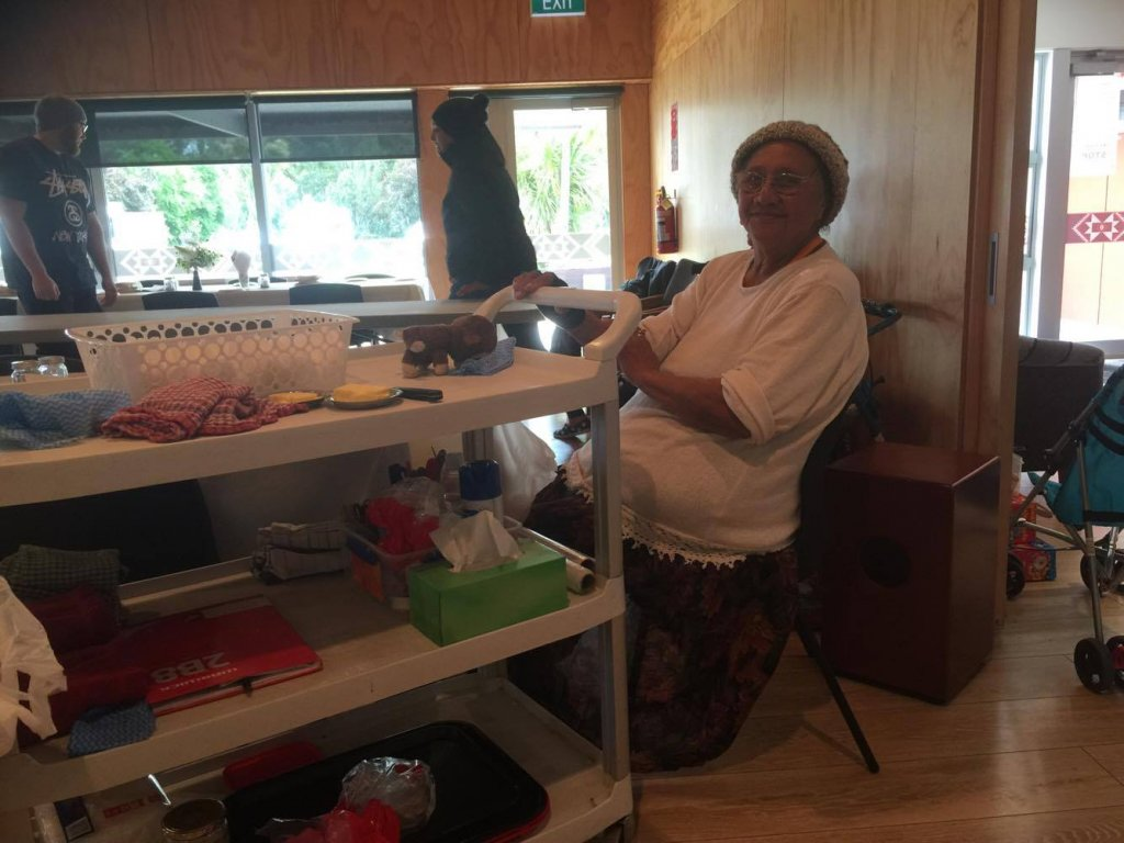 There are approximately 60 volunteers helping out, the eldest is Taua Patracia Silk-Anglem be turning 94 next month.