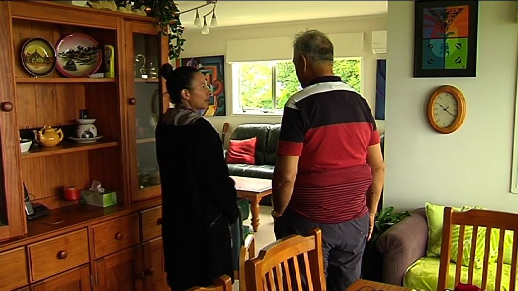 Kahurangi and Ngamaru talking inside the house