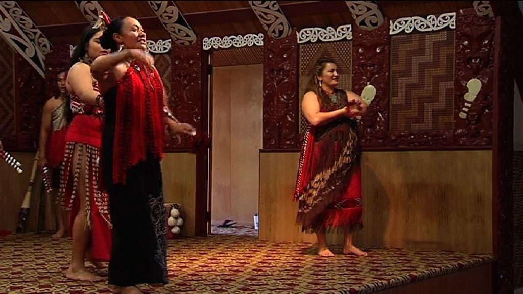 Māori performers at Te Puia