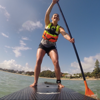 Waioira Stand Up Paddleboarding on the ocean
