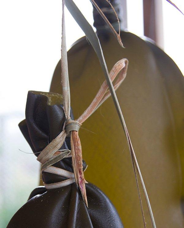 Pōhā hanging to dry