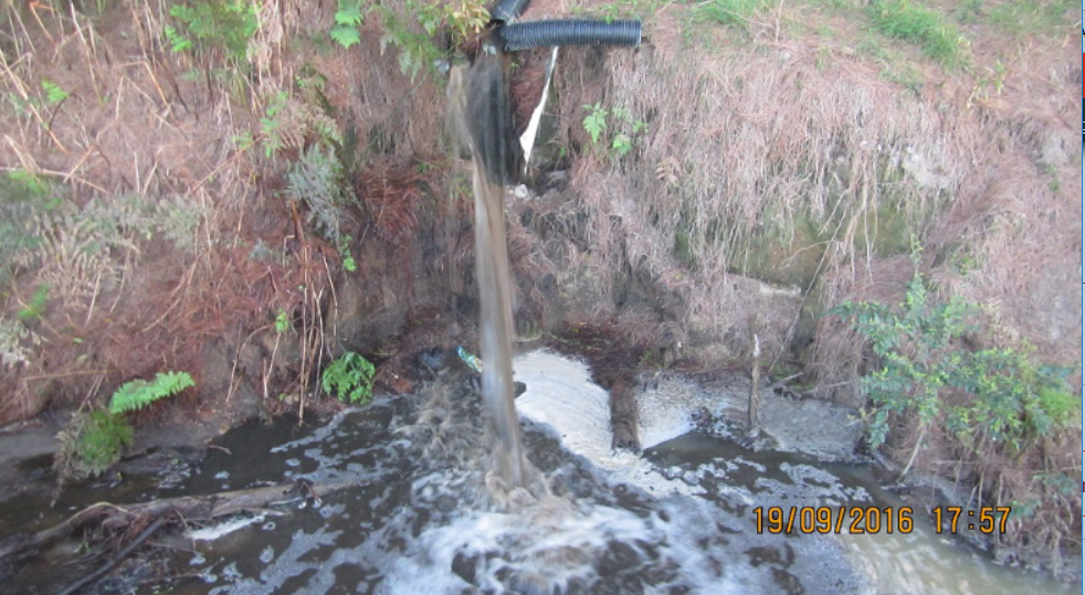 o	The contaminant discharging into the stream.
